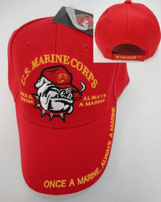 LICENSED US Marine Corps Hat [Red/Bulldog]